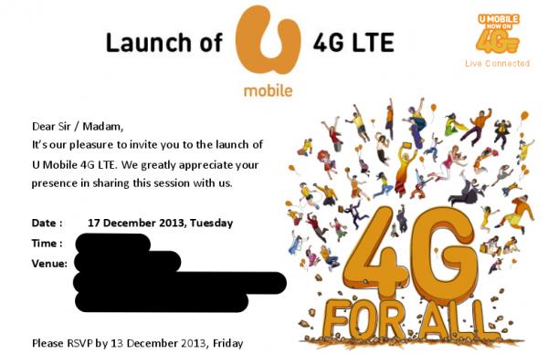 U Mobile 4G LTE Invite