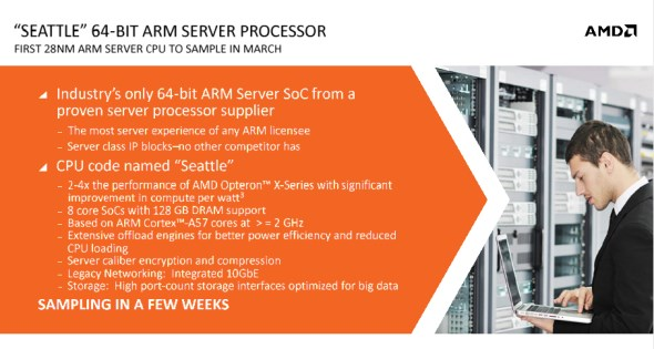 AMD Opteron A1100 ARM-Based Processors for Servers