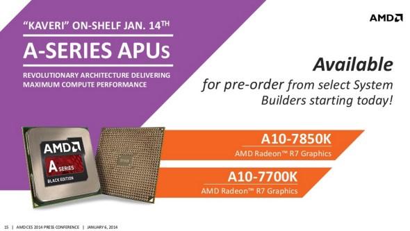 2014 AMD A-Series APU Kaveri