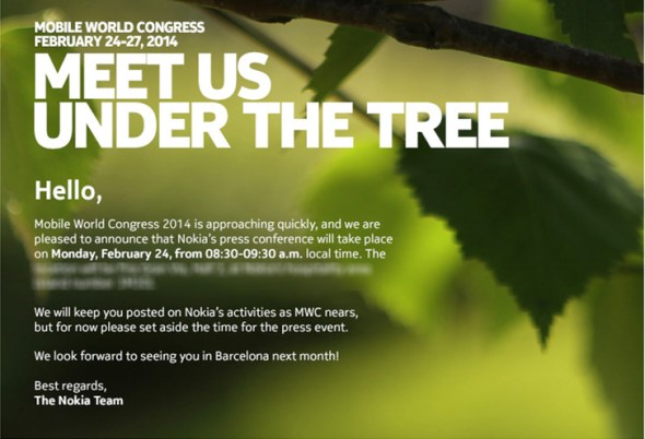 Nokia MWC 2014 Press Invite