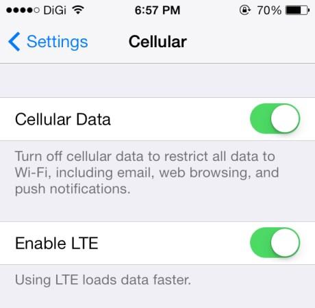 DiGi LTE for iPhone