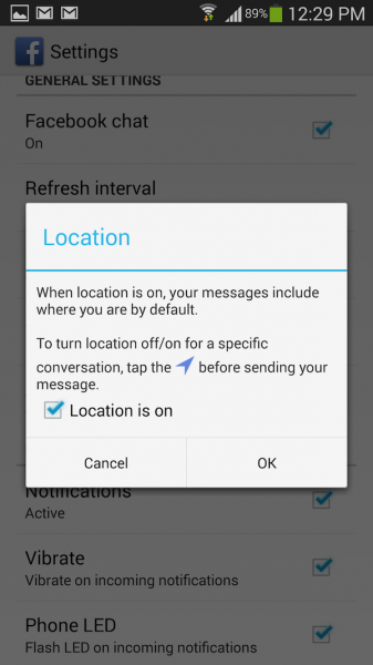 3 Android FB Message Location