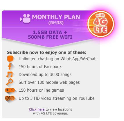 Celcom LTE Info
