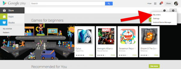 how to get a refund on google play store
