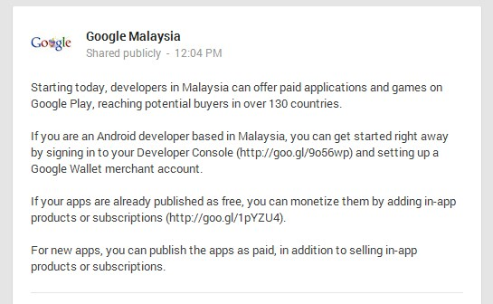 Google Malaysian Dev On Google Play