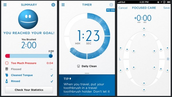 Smartphone App for Oral-B SmartSeries Power Toothbrush