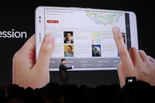 Huawei MediaPad X1 at MWC 2014
