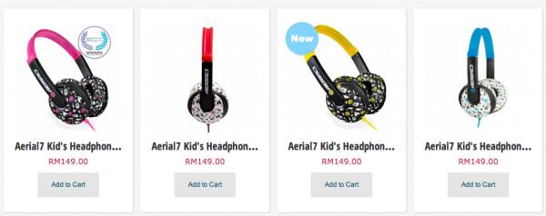 Aerial7 Headphone for Kids Range