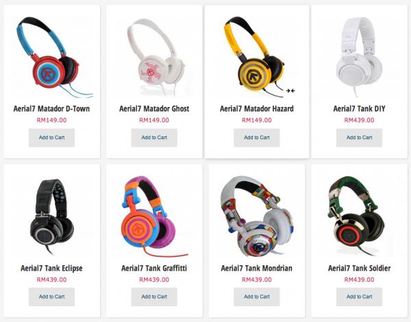 Aerial7 Headphones on Storekini