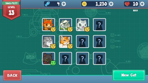 Cats menu