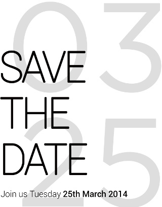 HTC Save the Date 25 March 2014