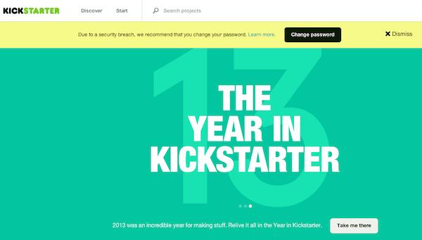 Kickstarter Compromised