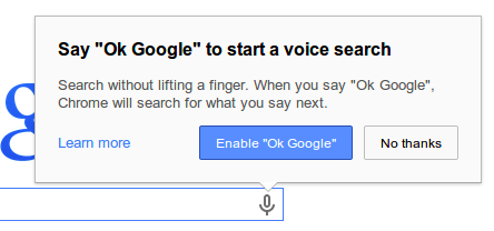 """You Can Now Use """"OK Google"""" on Chrome Browser (Beta), Now Add-Ons"""
