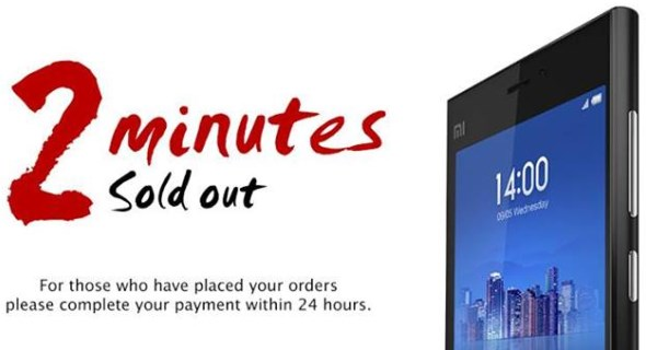 Xiaomi Mi3 Sold Out In Singapore Within 2 Minutes