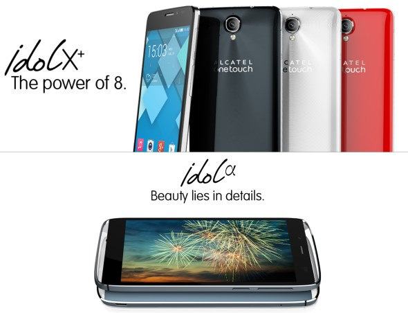Alcatel One Touch Idol X+ and Idol Alpha