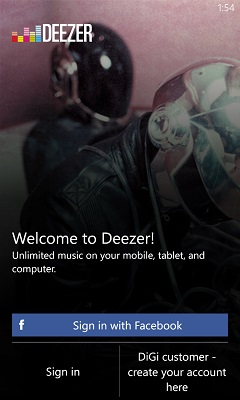 Deezer WP8