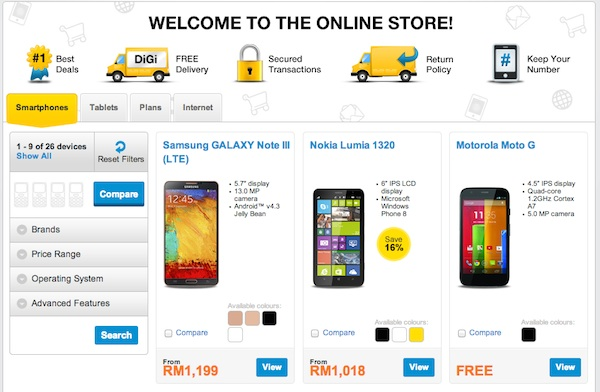 DiGi Now Offering Device Bundles with its Brand New ...