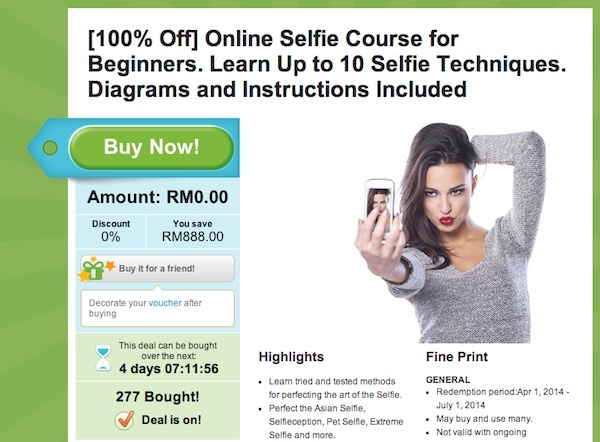 Groupon Online Selfie Course