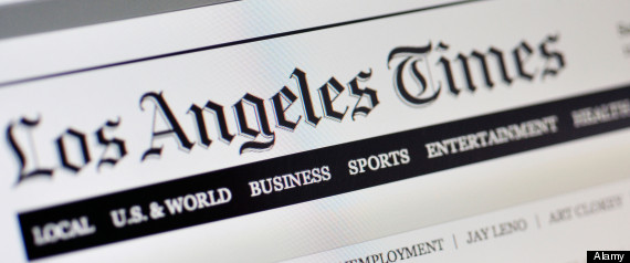 Los Angeles Times website
