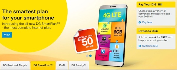New DiGi SmartPlan with 4G LTE