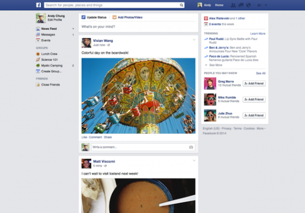 New Facebook News Feed Design