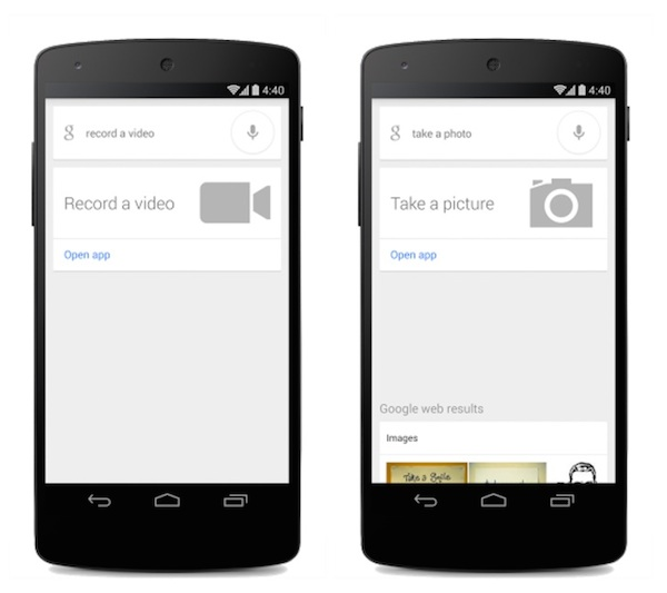 OK google take picture and video