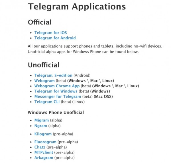 Telegram Apps