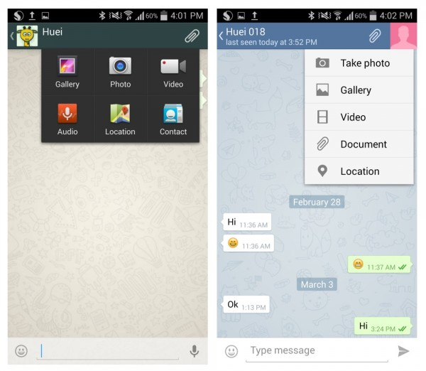 Type of Files You can Send WhatsApp vs Telegram