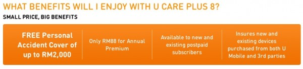 U Mobile U Care Plus with PA