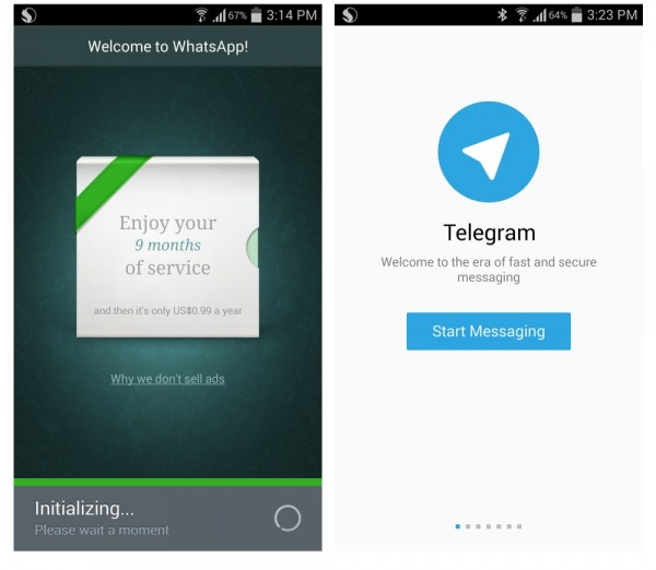 WhatsApp vs Telegram Main