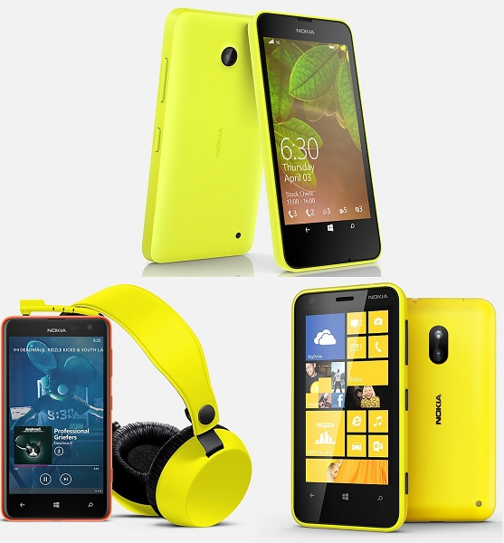Nokia Lumia 600 Series: Lumia 630/635, Lumia 625, and Lumia 620.