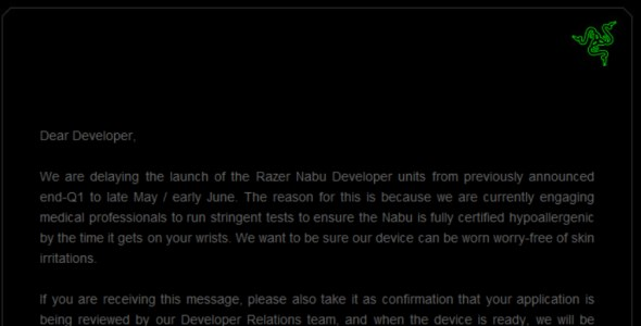 Razer Nabu Delayed