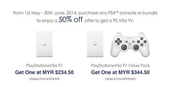 PlayStation Vita TV - PlayStation 4 Offer, May/June 2014