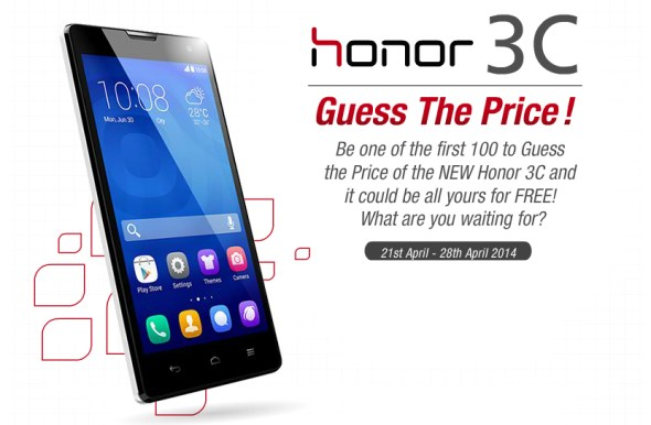 Huawei Malaysia's Guess The Honor 3C's Price Contest