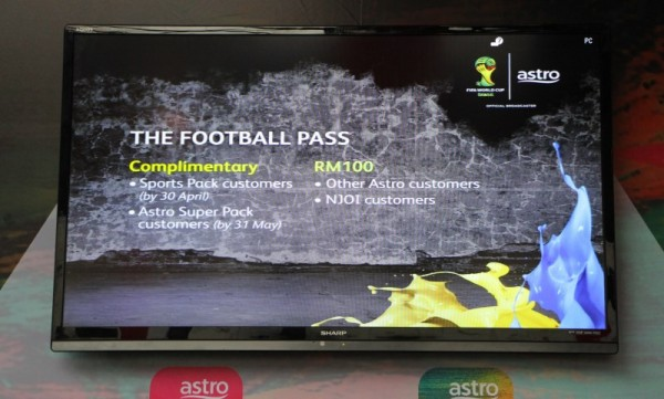 Astro Football Pass for 2014 FIFA World Cup