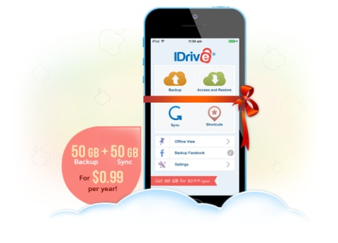IDrive iOS 99Cents a Year