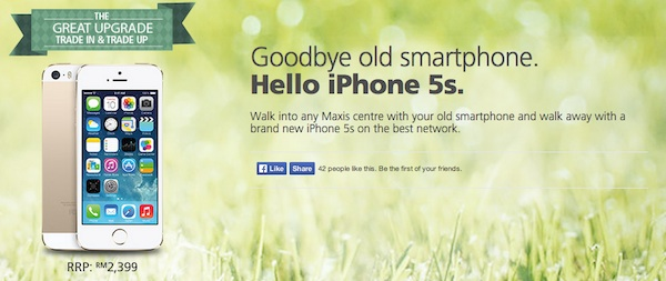 Maxis iPhone 5S Trade In Program