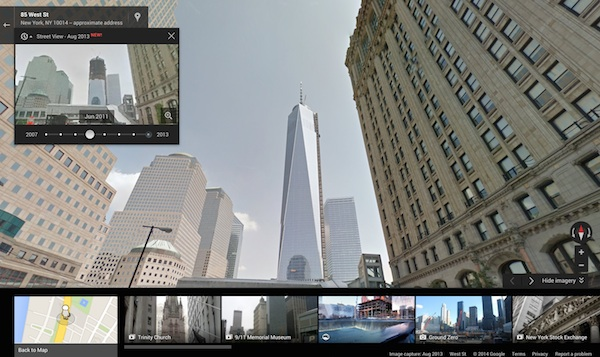 Street View Time Travel Freedom Tower