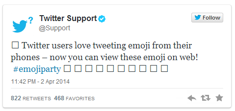 Twitter without emoji