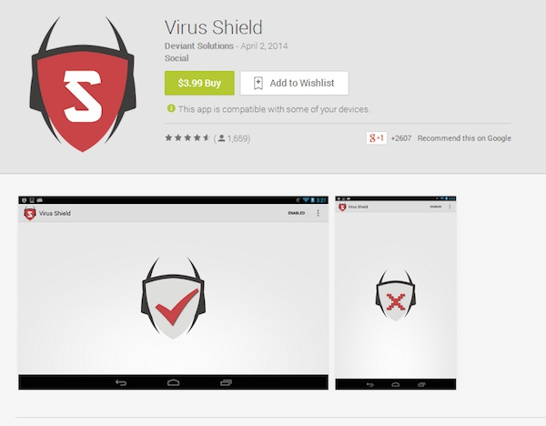 Virus Shield Scam