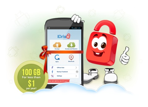 iDrive 100GB for 1 dollar a year