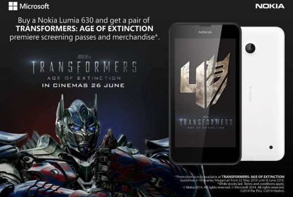 Nokia Lumia 630 x Transformers 4: Age off Extinction