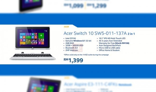 Acer Switch 10 - Intel Malaysia 2014 PC Refresh Campaign