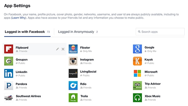 FB Apps Dashboard