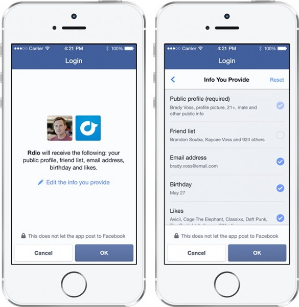 FB Line by Line Login