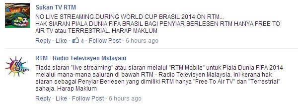 No World Cup On RTM Online Stream