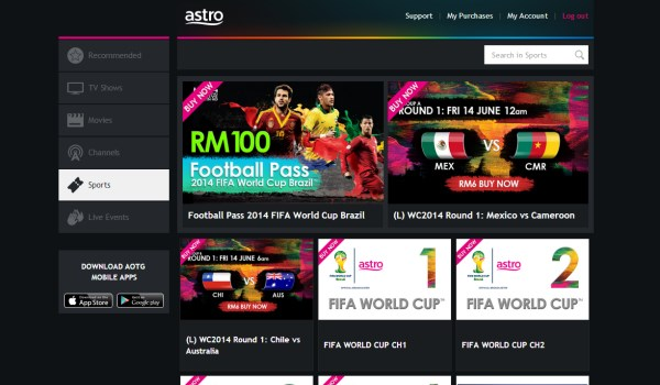 Astro On-The-Go FIFA World Cup