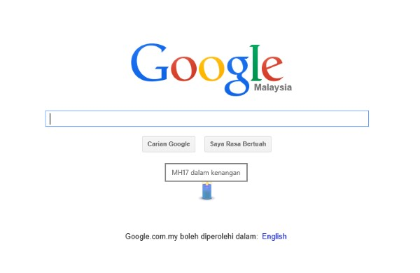Google Malaysia Tribute to MH17