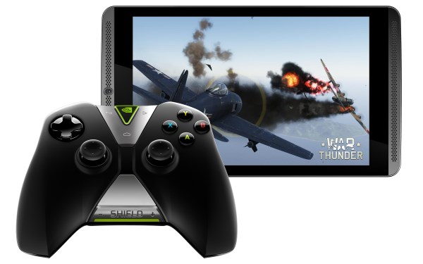 NVIDIA Shield Wireless Controller with NVIDIA Shield Tablet
