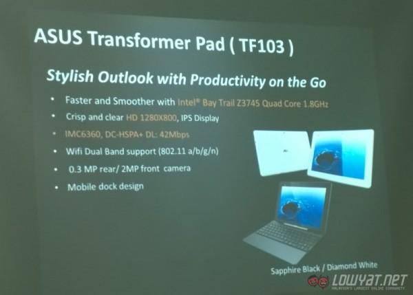 ASUS Transformer Pad TF103